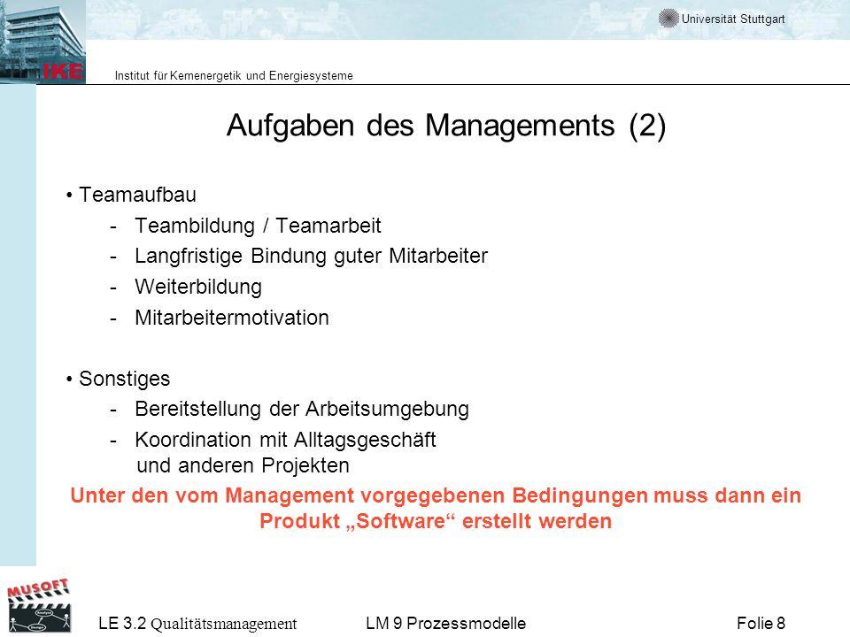 Aufgaben des Managements (2)
