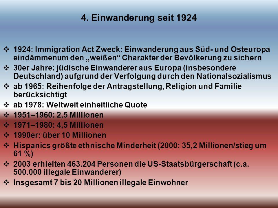 4. Einwanderung seit 1924
