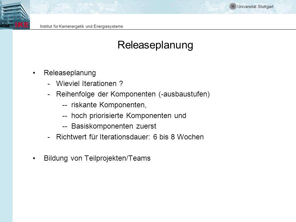 Releaseplanung Releaseplanung - Wieviel Iterationen