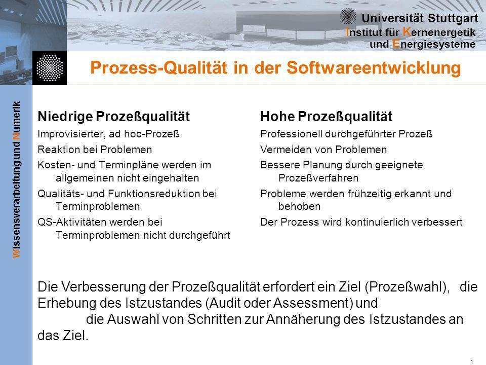 Prozess-Qualität in der Softwareentwicklung