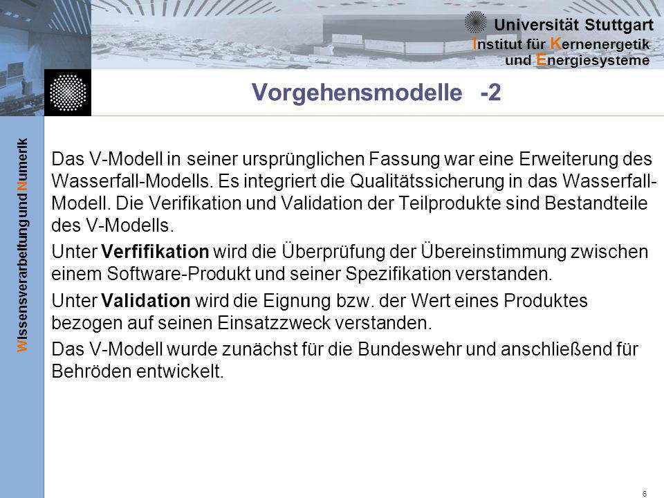 Vorgehensmodelle -2