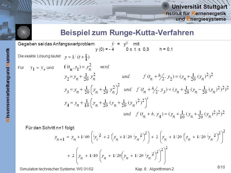 Beispiel zum Runge-Kutta-Verfahren