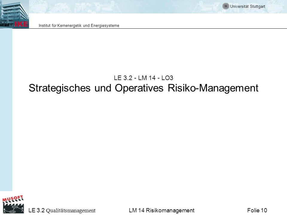 LE 3.2 - LM 14 - LO3 Strategisches und Operatives Risiko-Management