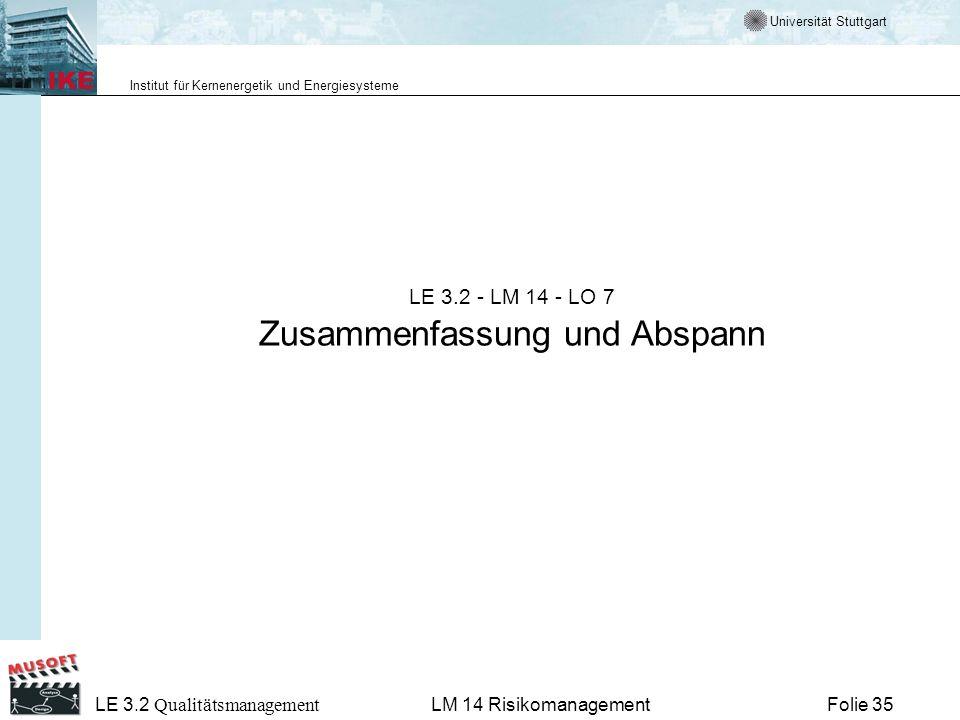 LE 3.2 - LM 14 - LO 7 Zusammenfassung und Abspann