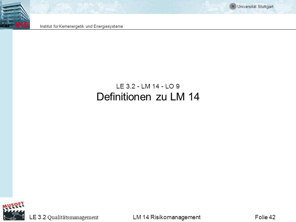 LE 3.2 - LM 14 - LO 9 Definitionen zu LM 14