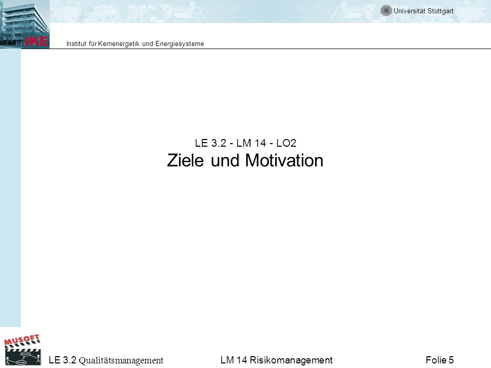 LE 3.2 - LM 14 - LO2 Ziele und Motivation