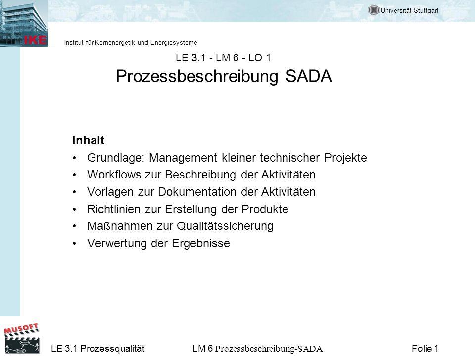 LE 3.1 - LM 6 - LO 1 Prozessbeschreibung SADA