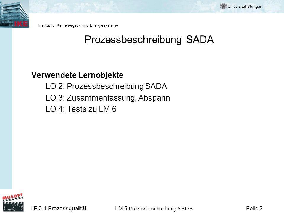 Prozessbeschreibung SADA