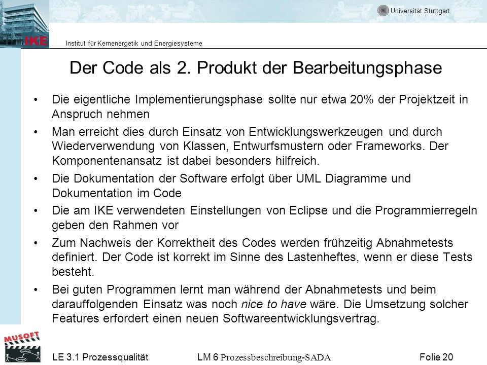 Der Code als 2. Produkt der Bearbeitungsphase