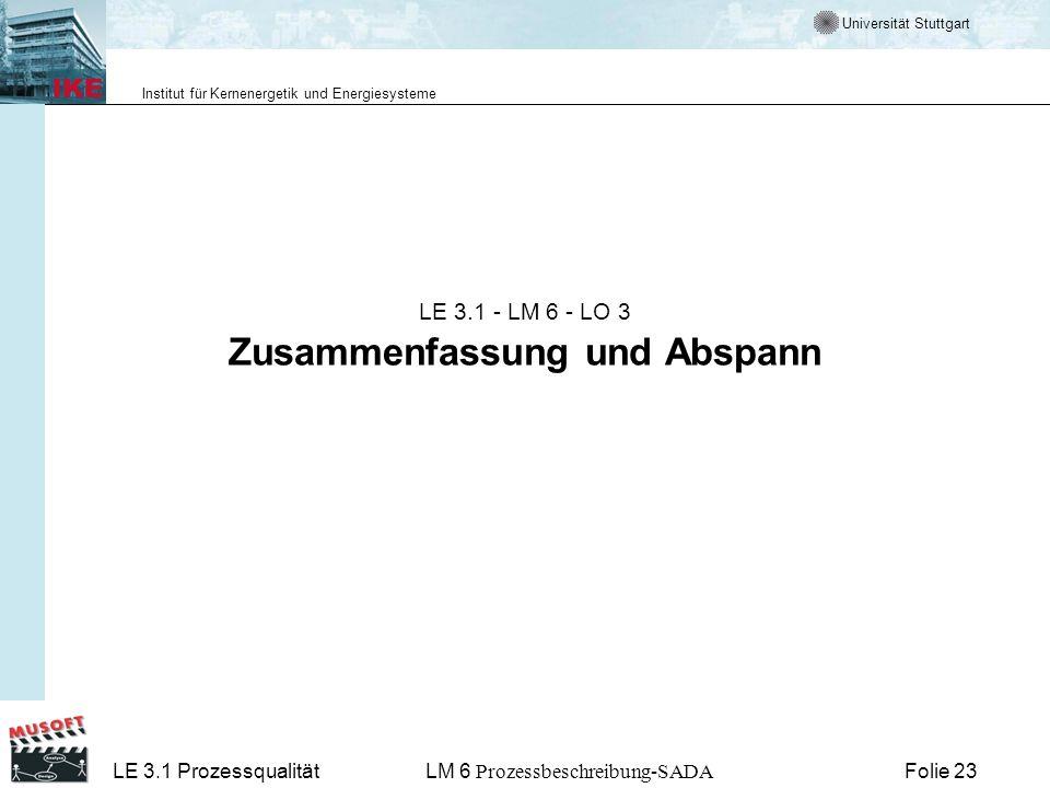 LE 3.1 - LM 6 - LO 3 Zusammenfassung und Abspann