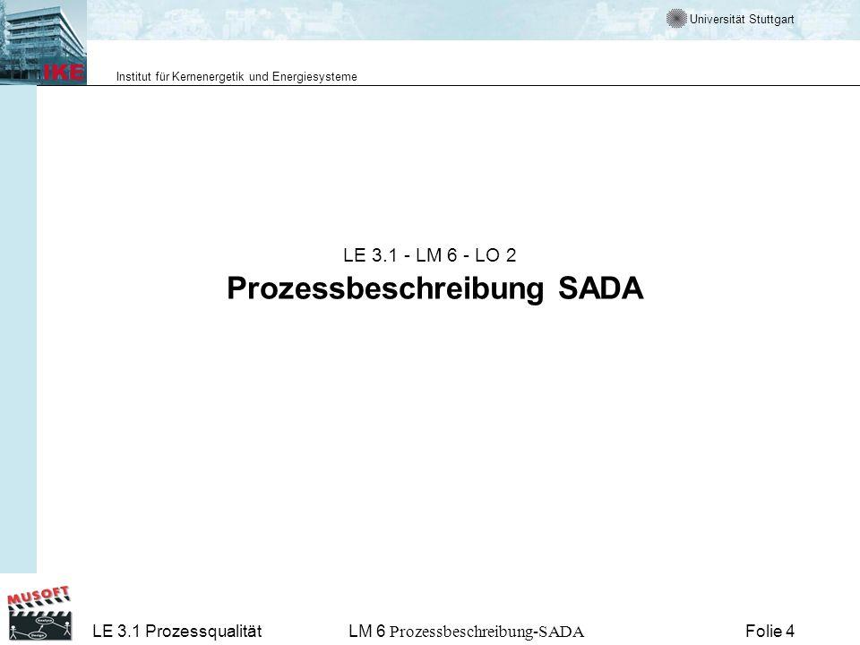 LE 3.1 - LM 6 - LO 2 Prozessbeschreibung SADA