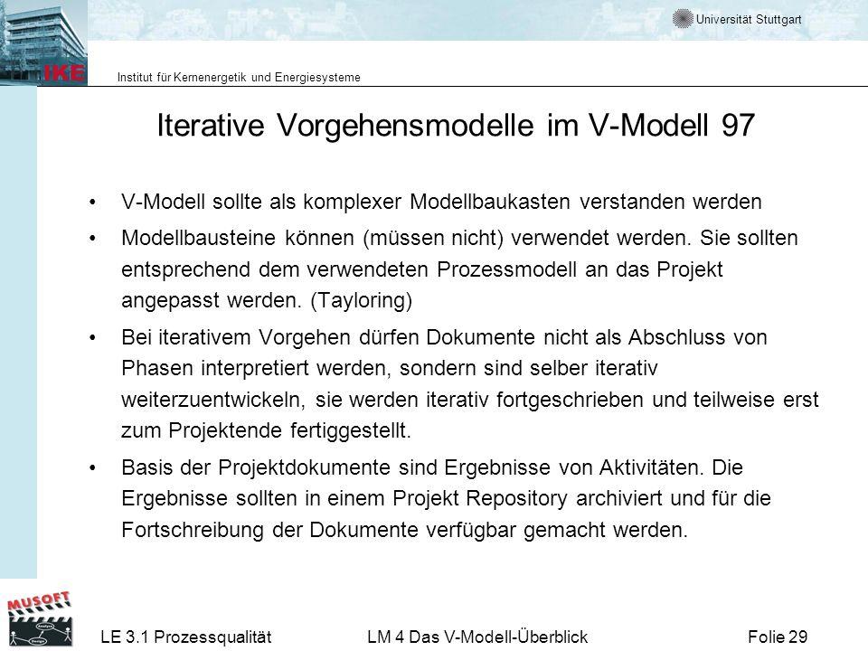 Iterative Vorgehensmodelle im V-Modell 97