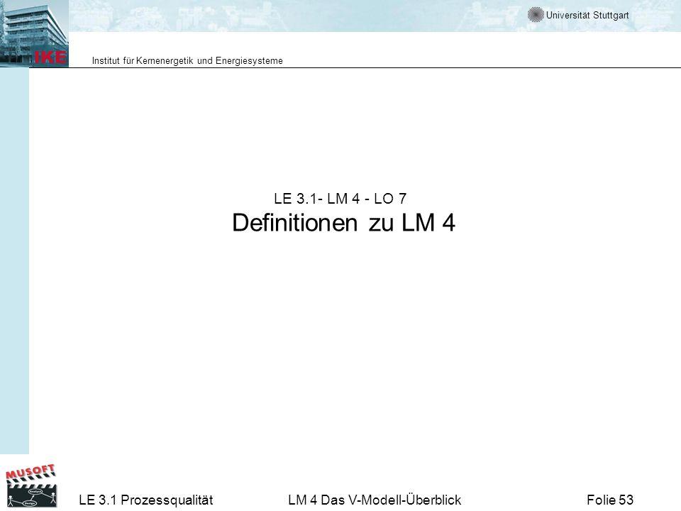 LE 3.1- LM 4 - LO 7 Definitionen zu LM 4