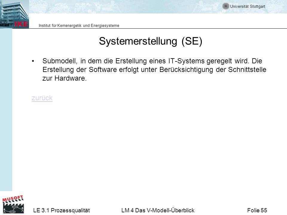 Systemerstellung (SE)
