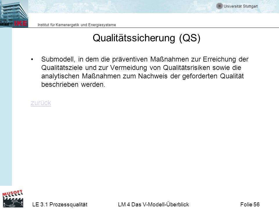 Qualitätssicherung (QS)