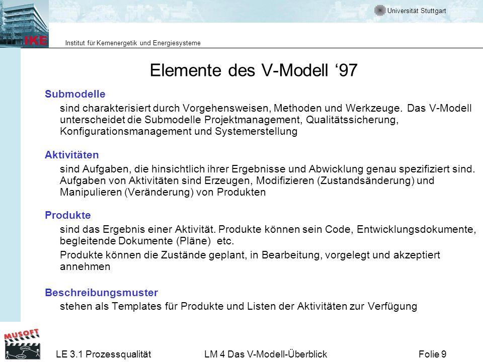 Elemente des V-Modell '97