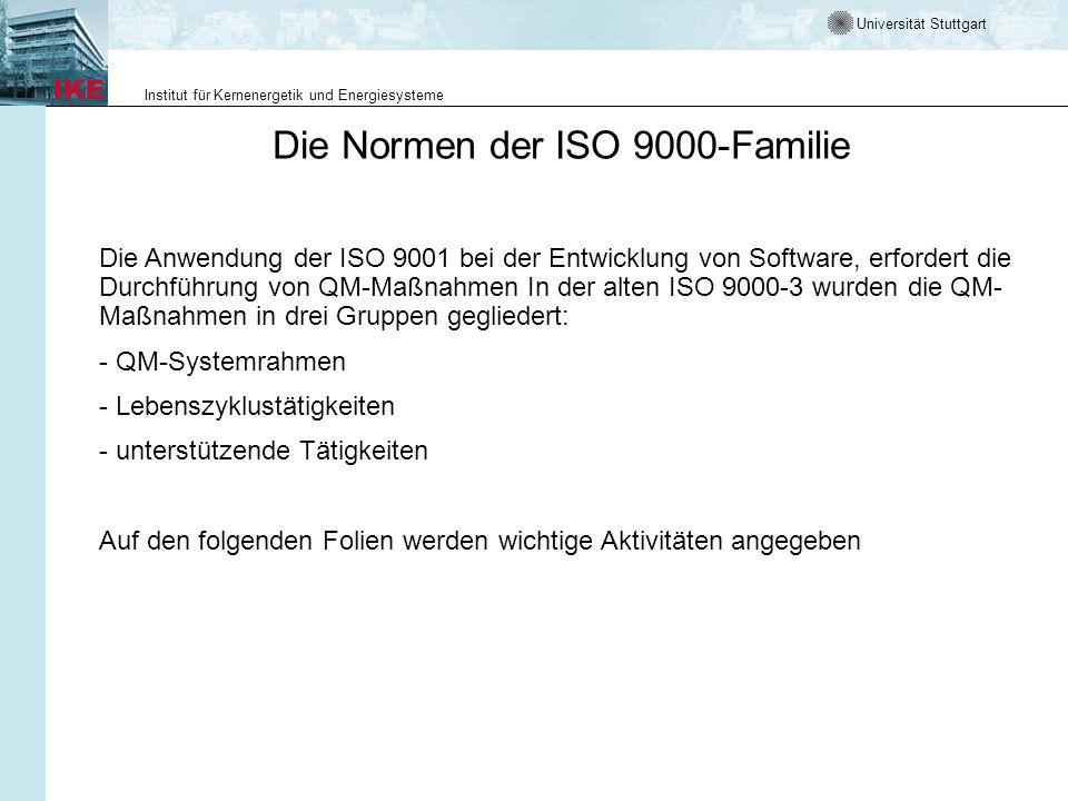 Die Normen der ISO 9000-Familie