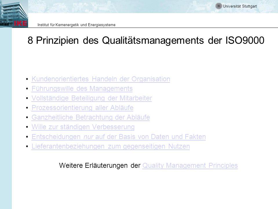 8 Prinzipien des Qualitätsmanagements der ISO9000
