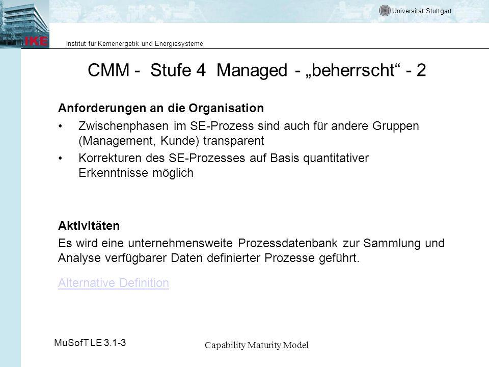 """CMM - Stufe 4 Managed - """"beherrscht - 2"""