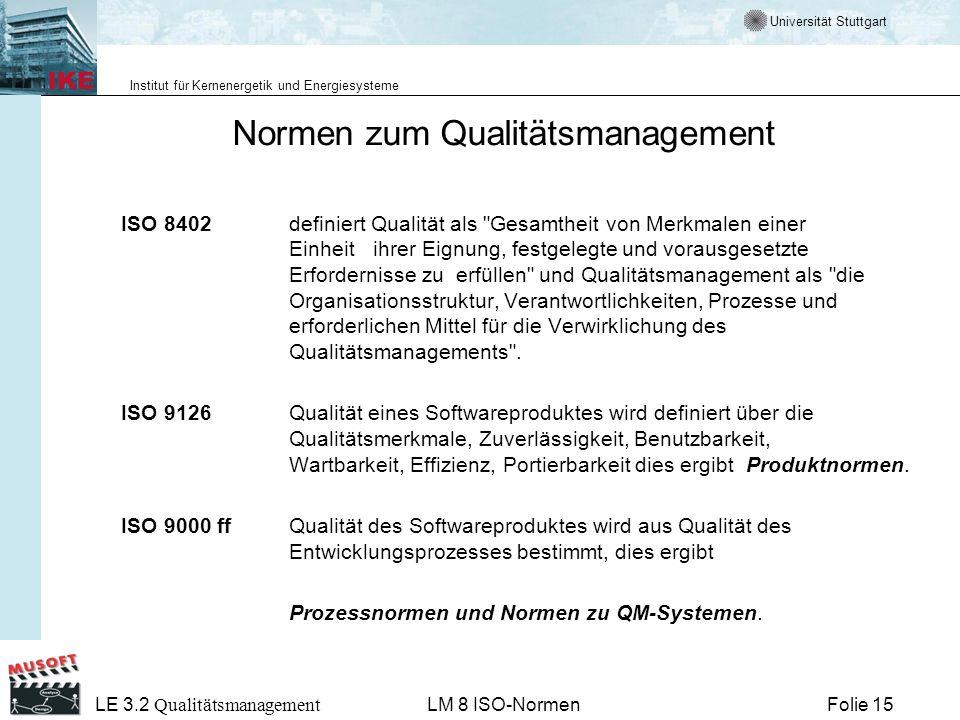 Normen zum Qualitätsmanagement