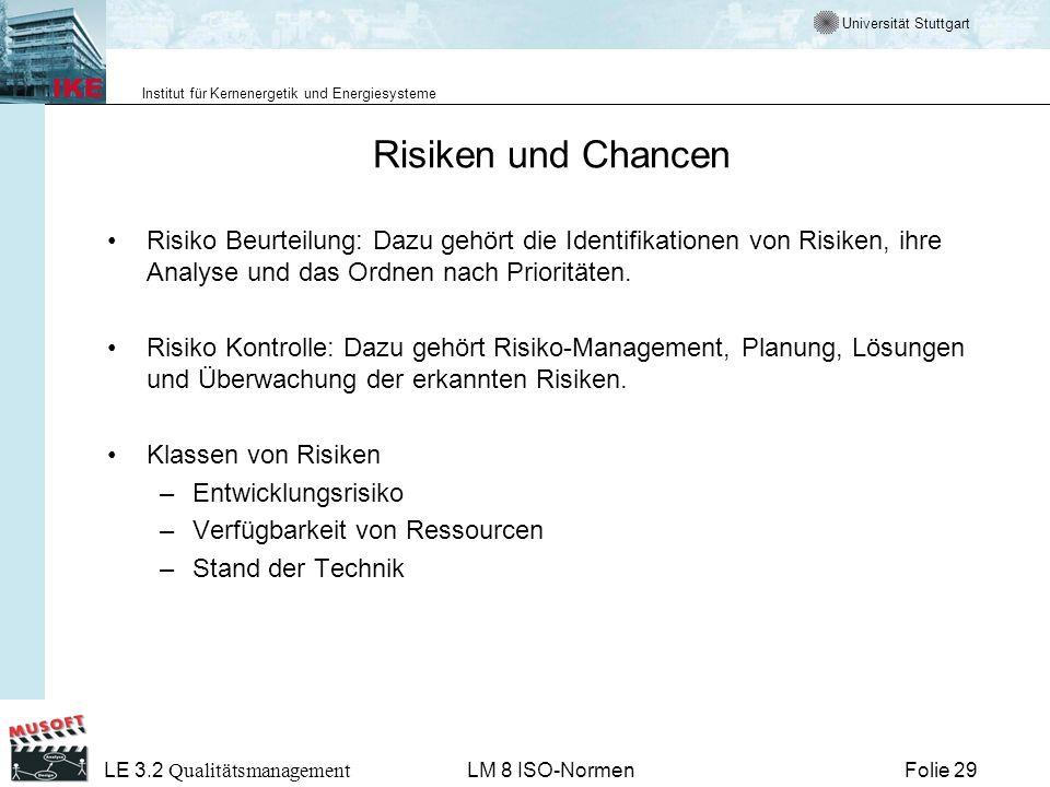 Risiken und ChancenRisiko Beurteilung: Dazu gehört die Identifikationen von Risiken, ihre Analyse und das Ordnen nach Prioritäten.