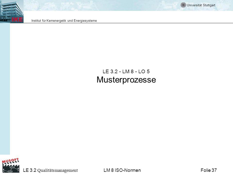 LE 3.2 - LM 8 - LO 5 Musterprozesse