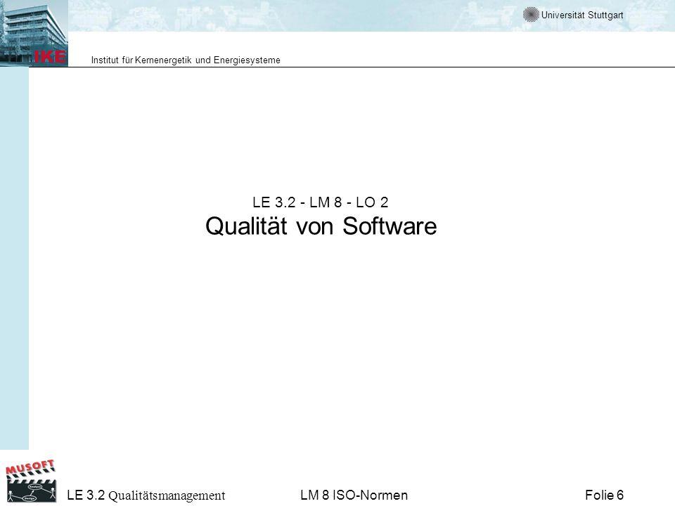 LE 3.2 - LM 8 - LO 2 Qualität von Software