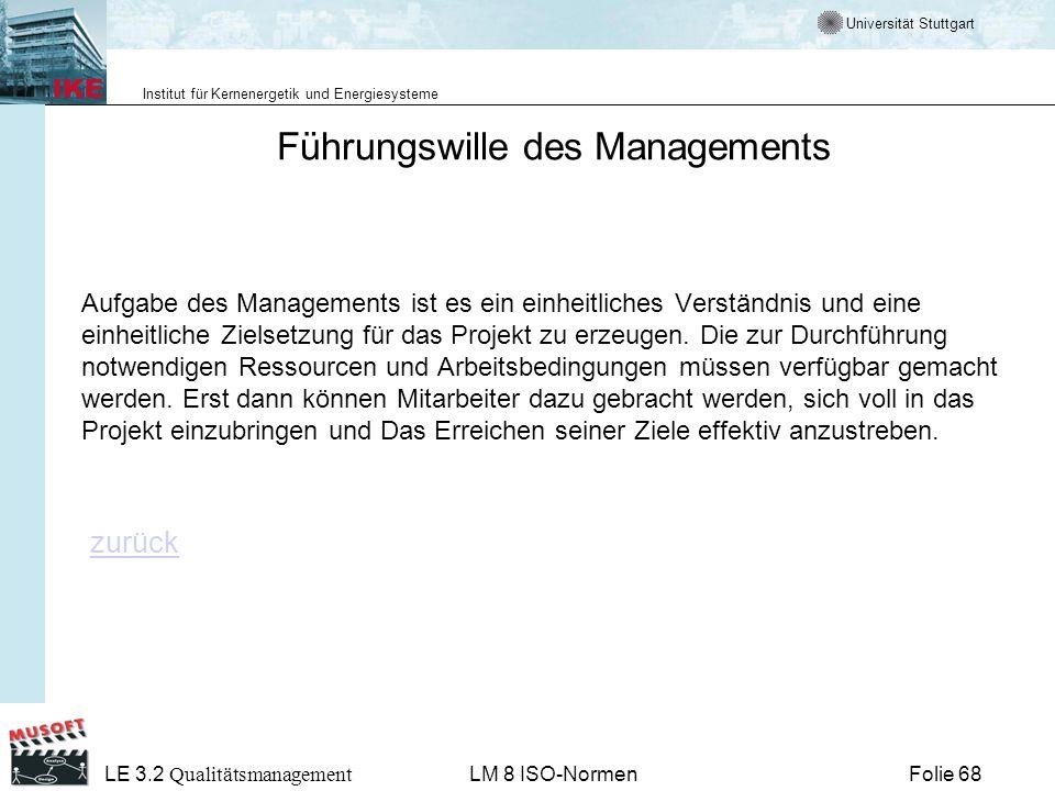 Führungswille des Managements