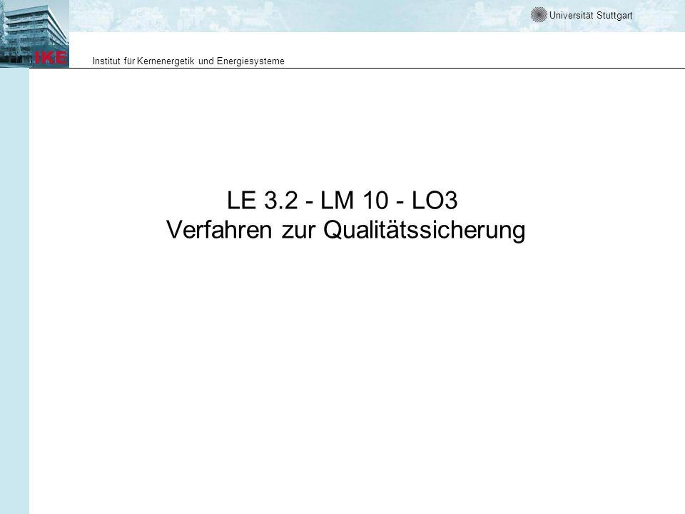 LE 3.2 - LM 10 - LO3 Verfahren zur Qualitätssicherung