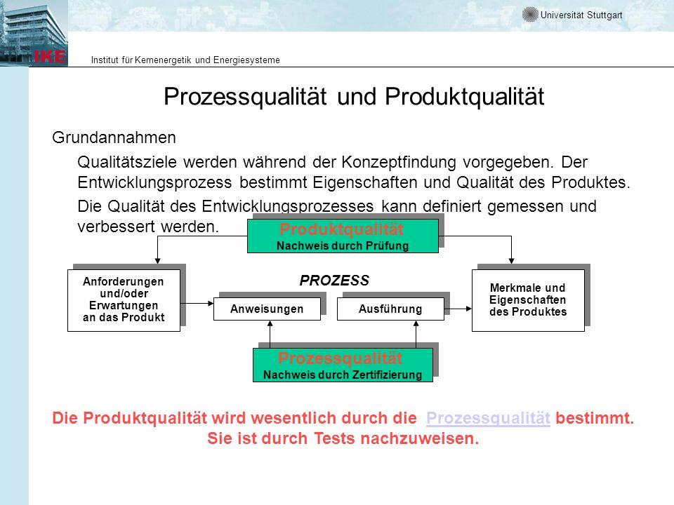 Prozessqualität und Produktqualität