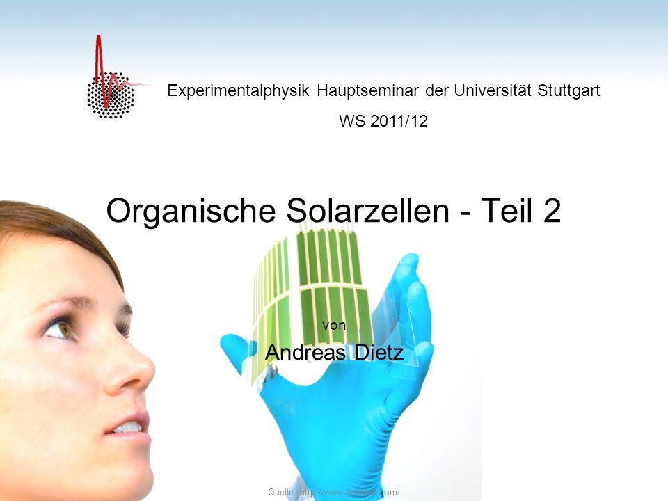 Organische Solarzellen - Teil 2