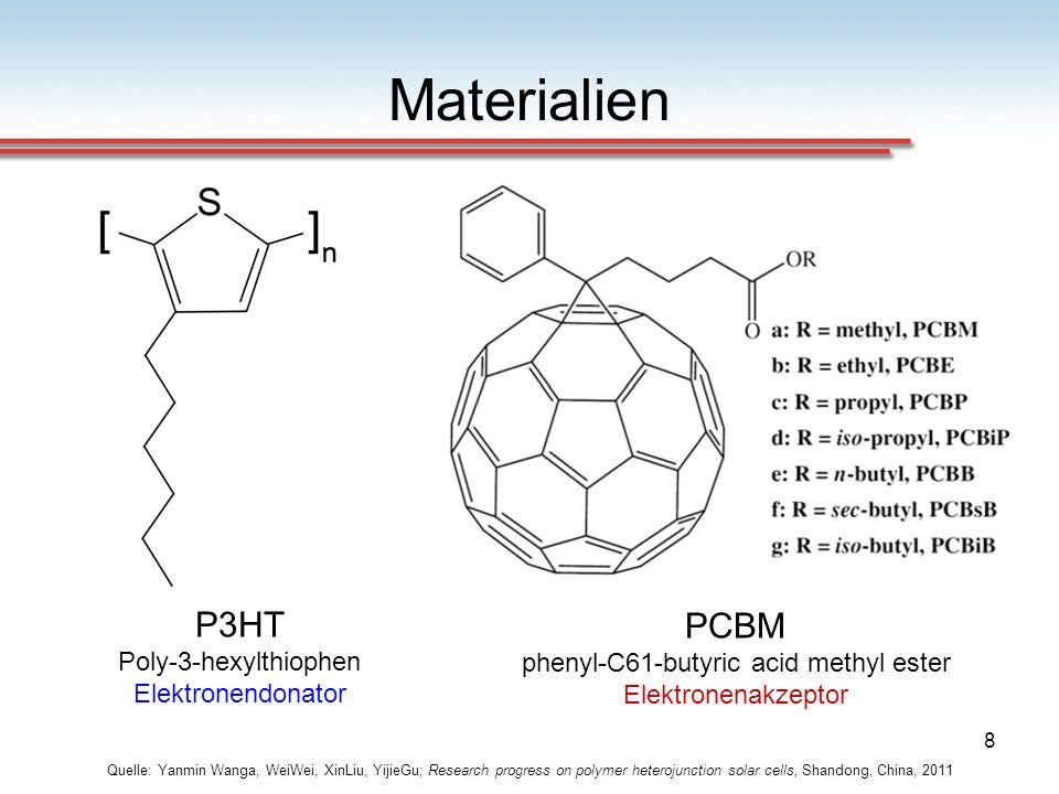 PCBM phenyl-C61-butyric acid methyl ester Elektronenakzeptor