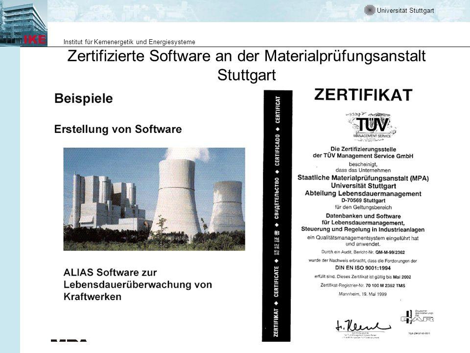 Zertifizierte Software an der Materialprüfungsanstalt Stuttgart