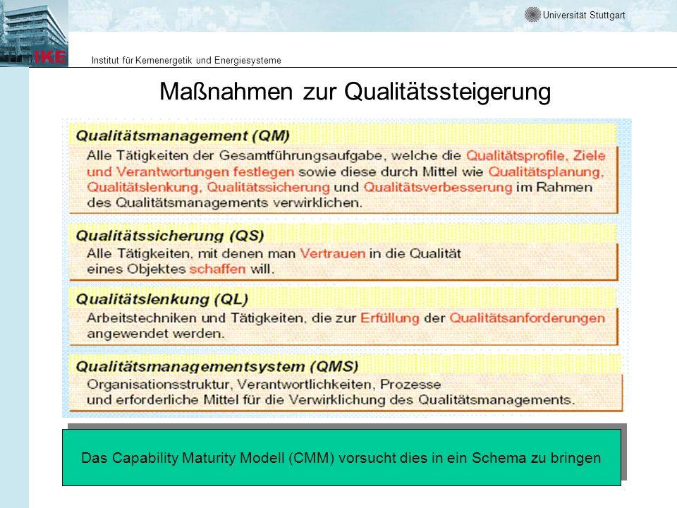 Maßnahmen zur Qualitätssteigerung