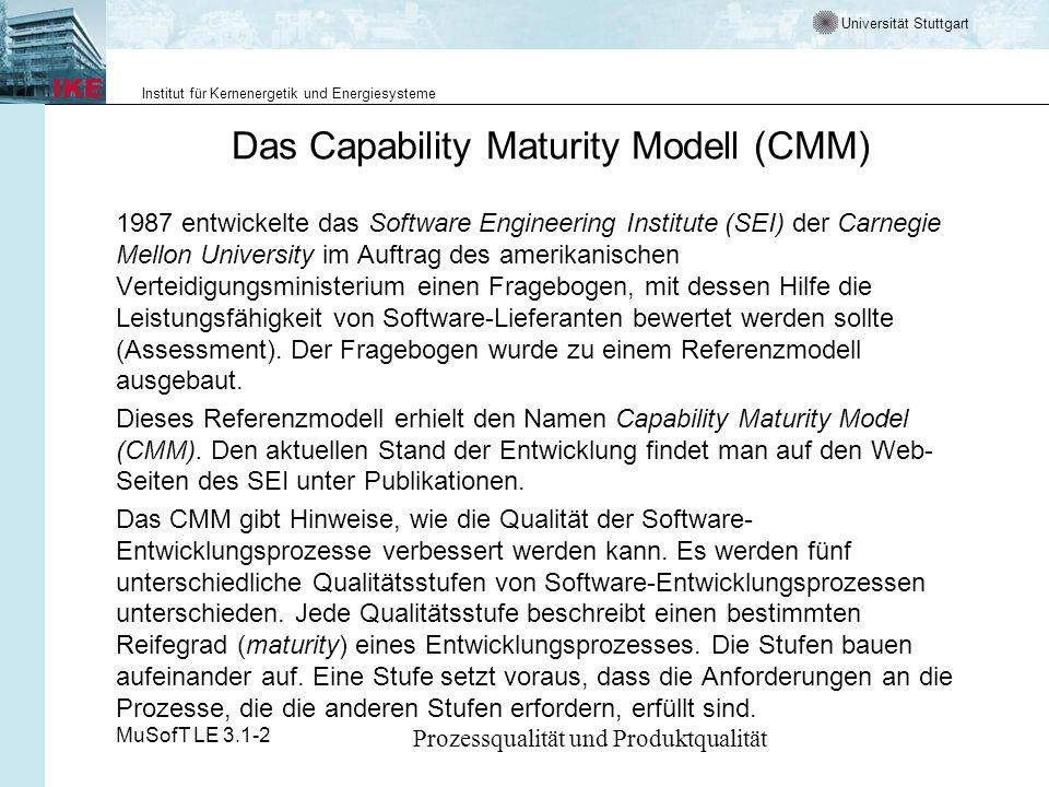 Das Capability Maturity Modell (CMM)