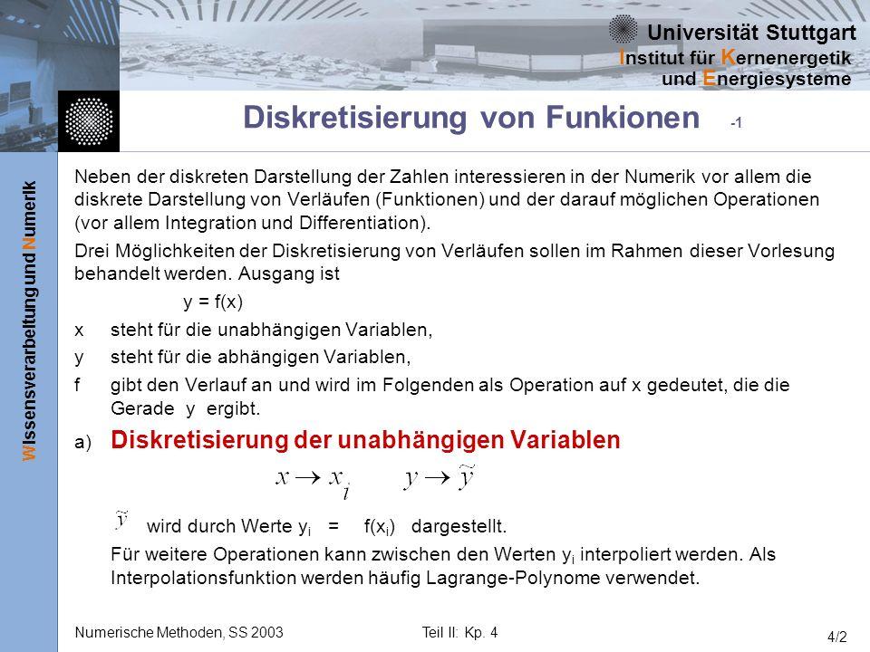 Diskretisierung von Funkionen -1