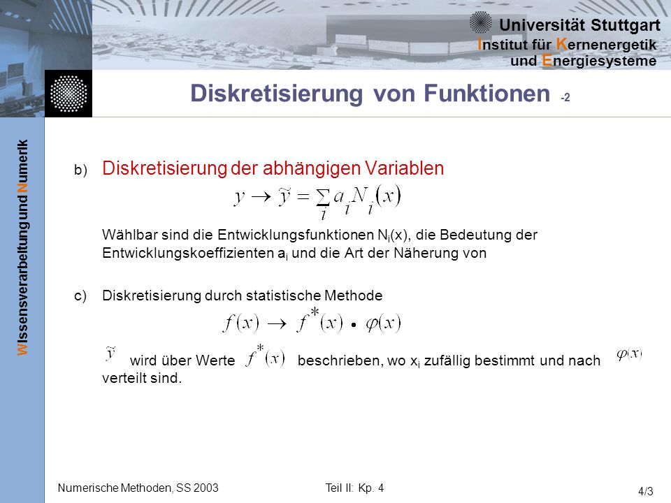 Diskretisierung von Funktionen -2