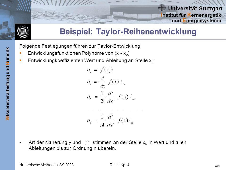 Beispiel: Taylor-Reihenentwicklung