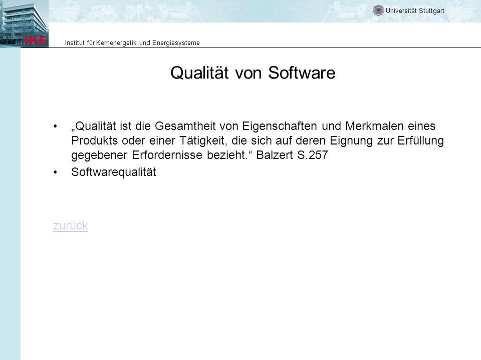 Qualität von Software