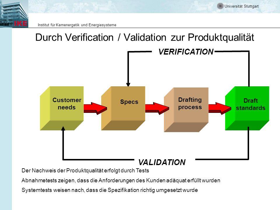 Durch Verification / Validation zur Produktqualität