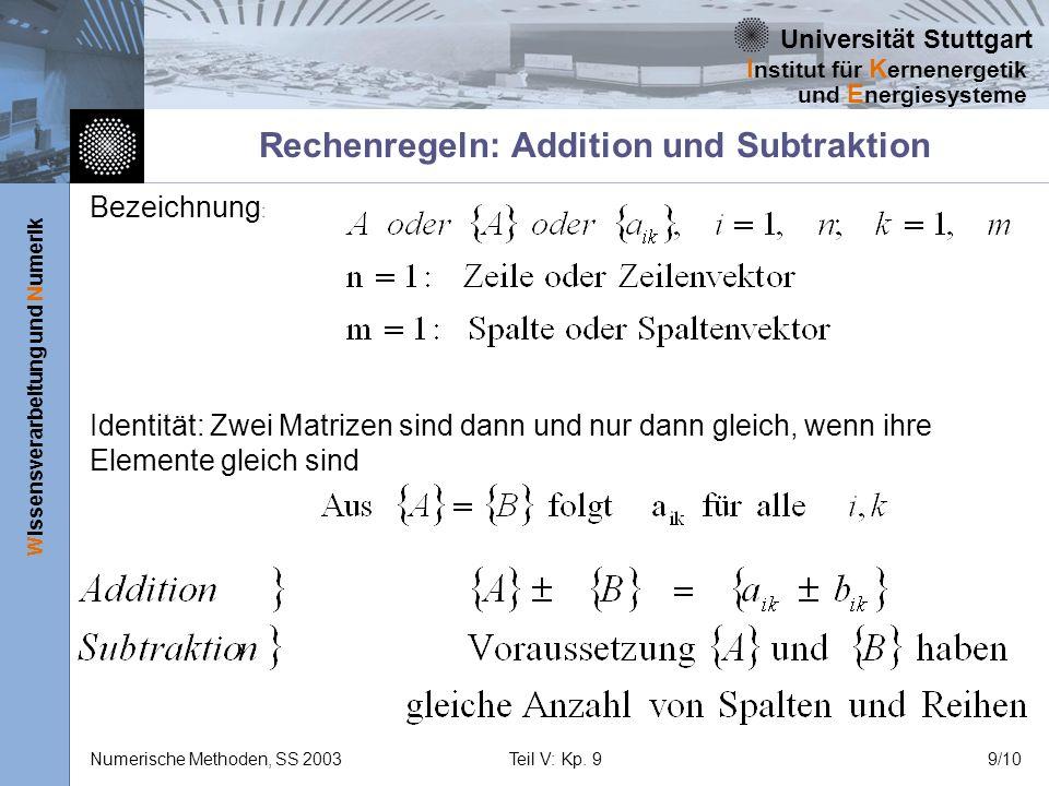 Rechenregeln: Addition und Subtraktion