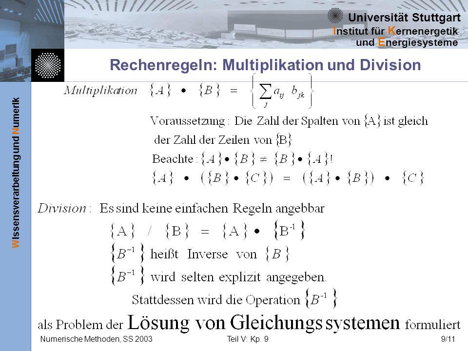 Rechenregeln: Multiplikation und Division
