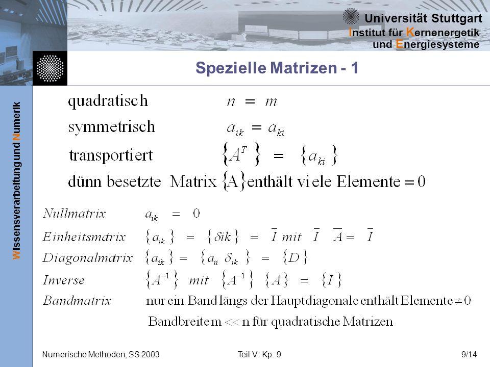 Spezielle Matrizen - 1
