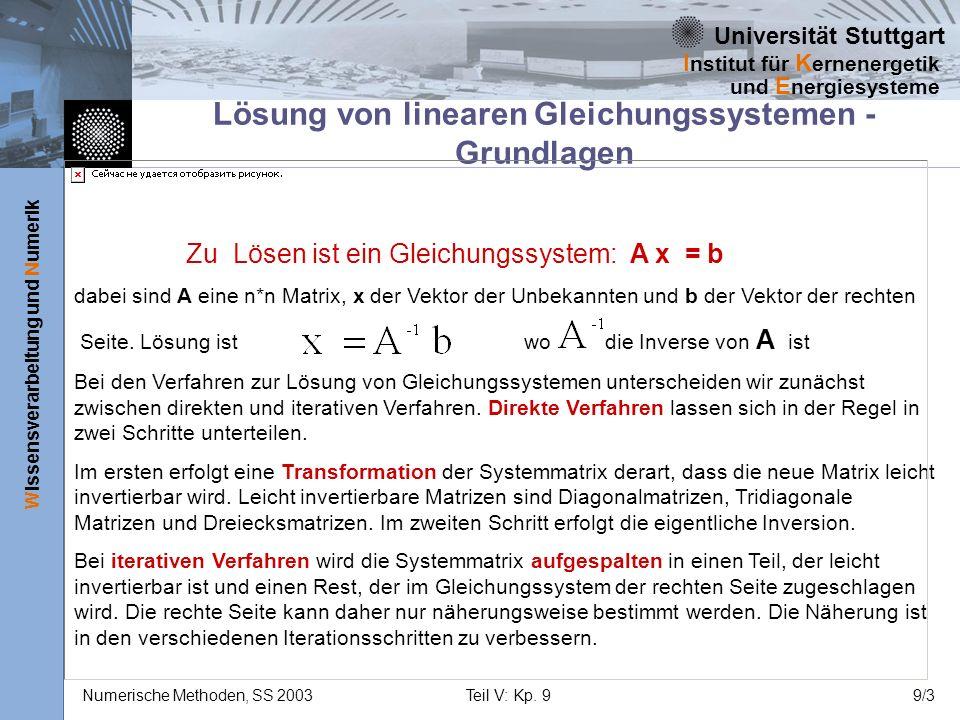 Lösung von linearen Gleichungssystemen - Grundlagen