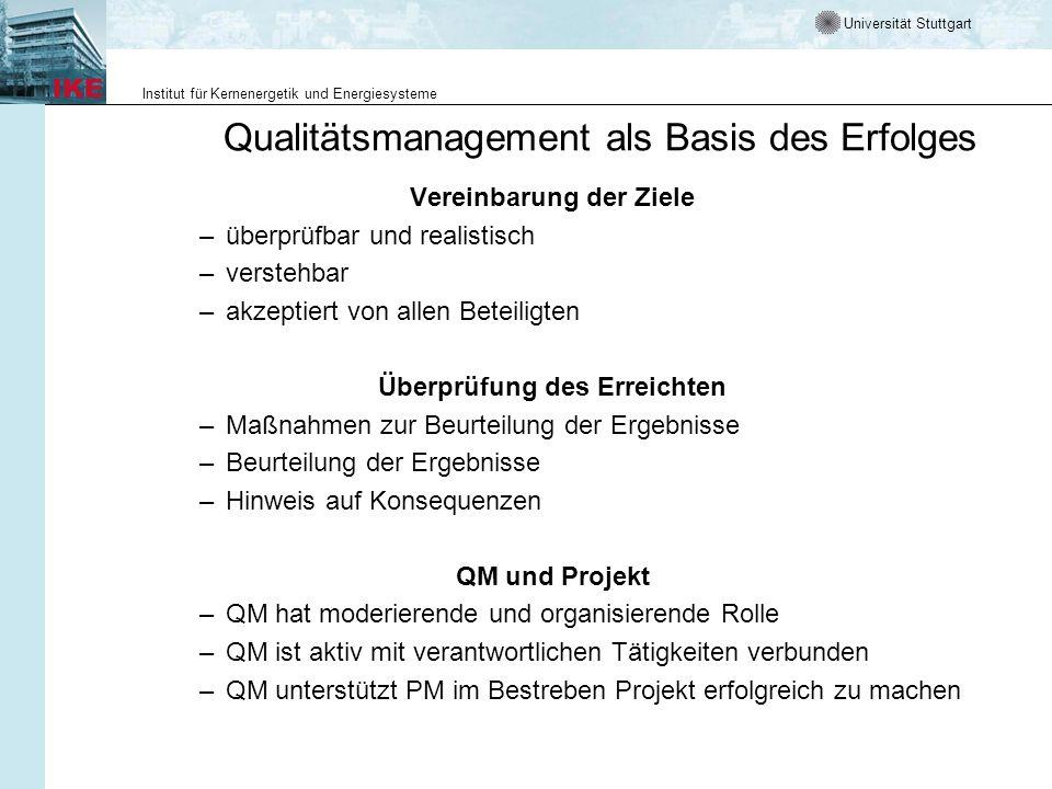 Qualitätsmanagement als Basis des Erfolges