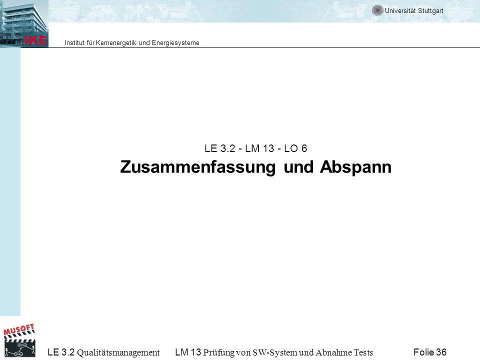 LE 3.2 - LM 13 - LO 6 Zusammenfassung und Abspann
