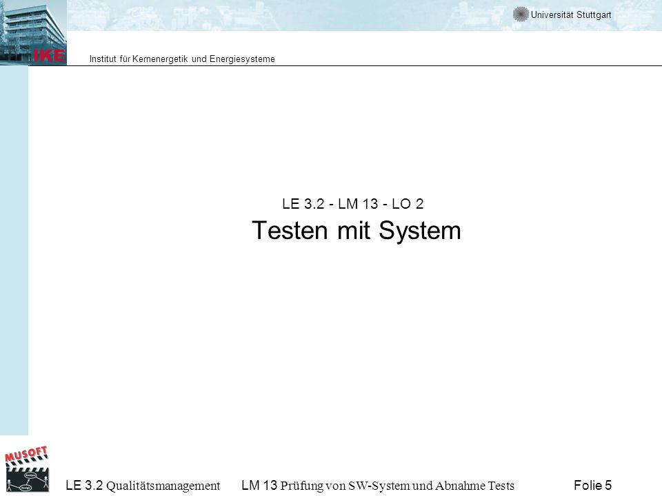 LE 3.2 - LM 13 - LO 2 Testen mit System