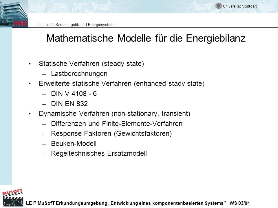 Mathematische Modelle für die Energiebilanz