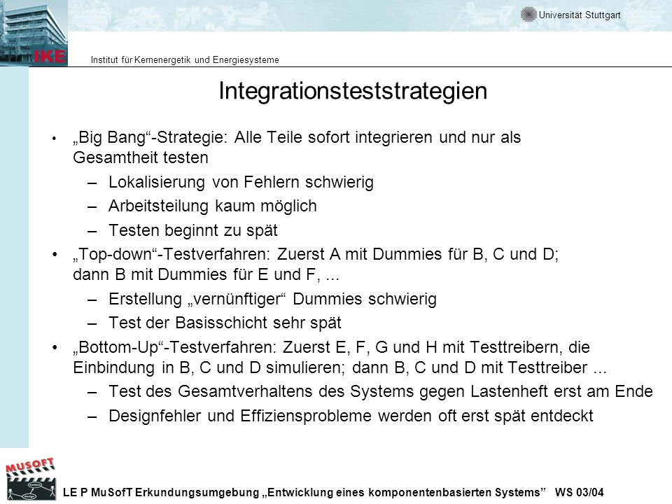 Integrationsteststrategien