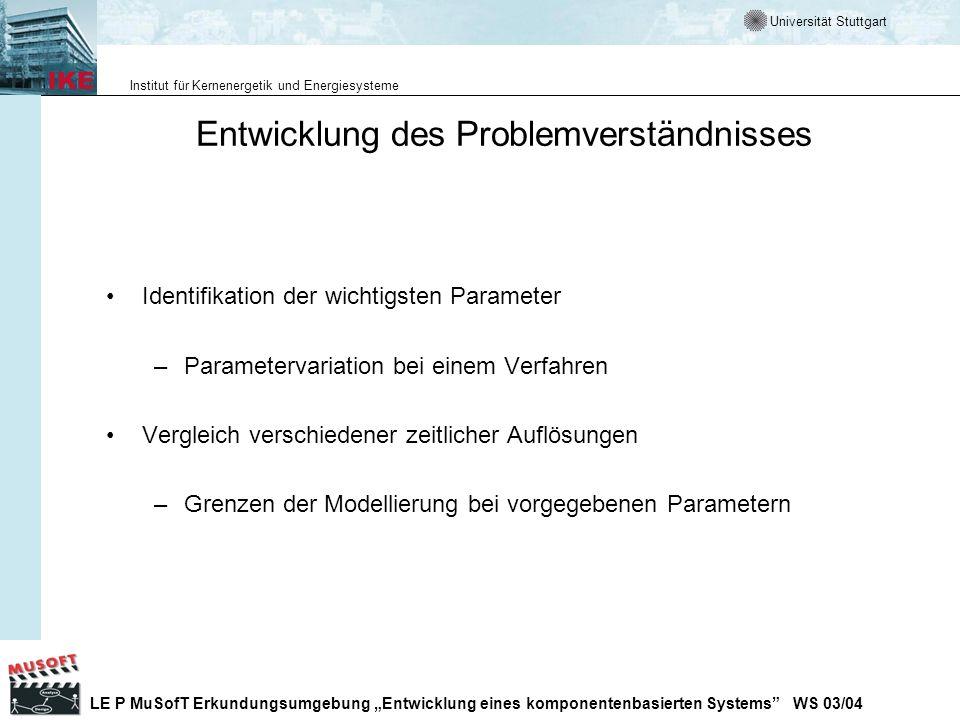 Entwicklung des Problemverständnisses